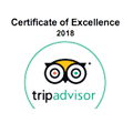Trip Advisor Certificate of Excellence - Awarded 2018